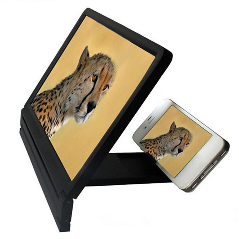 OOTDTY High Definition Screen Amplifier Cellphone Screen Magnifier Loop Bracket Stand