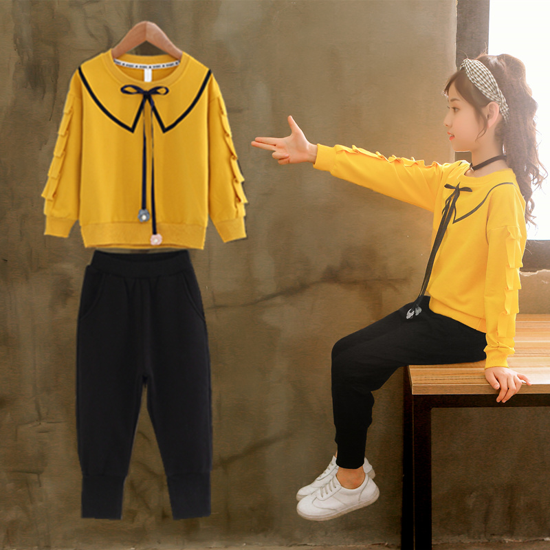 2019 Girls Clothing Sets Kids Long Sleeve Shirts + Pants Suits Autumn Winter Children Baby Girl Clothes 5 6 7 8 9 10 12 Years