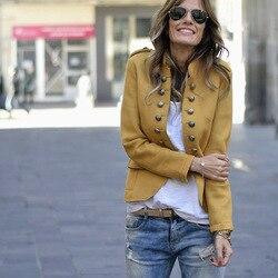 Jesień garnitur casual kurtki damskie z długim rękawem Slim krótki płaszcz dwurzędowy kobiet podstawowe małe garnitur brytyjski styl sweter topy 2