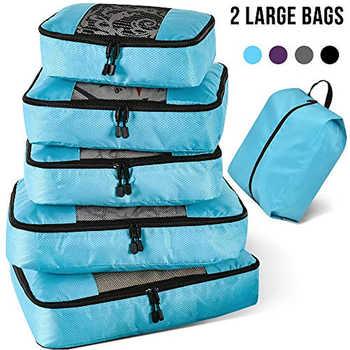Packing Cubes Travel Luggage Organizer Waterproof Double Zip Men Women Travel Bag Organizer Hand Luggage Nylon Travel Bag - Category 🛒 Luggage & Bags