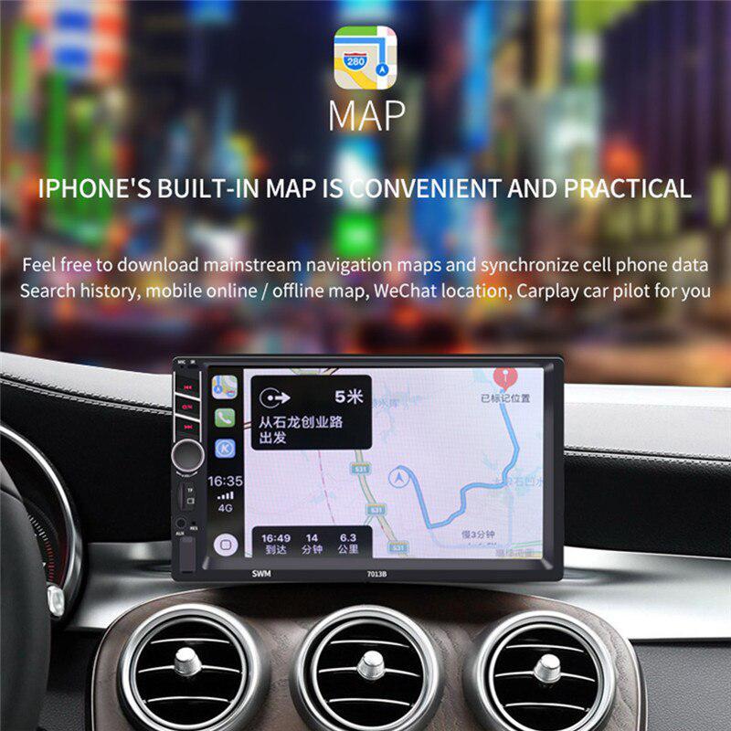 Car MP5 Player 7013B 7 Inches HD FM Radio Car MP3 Player Plug in Card USB Flash Drive Reversing Image No Camera