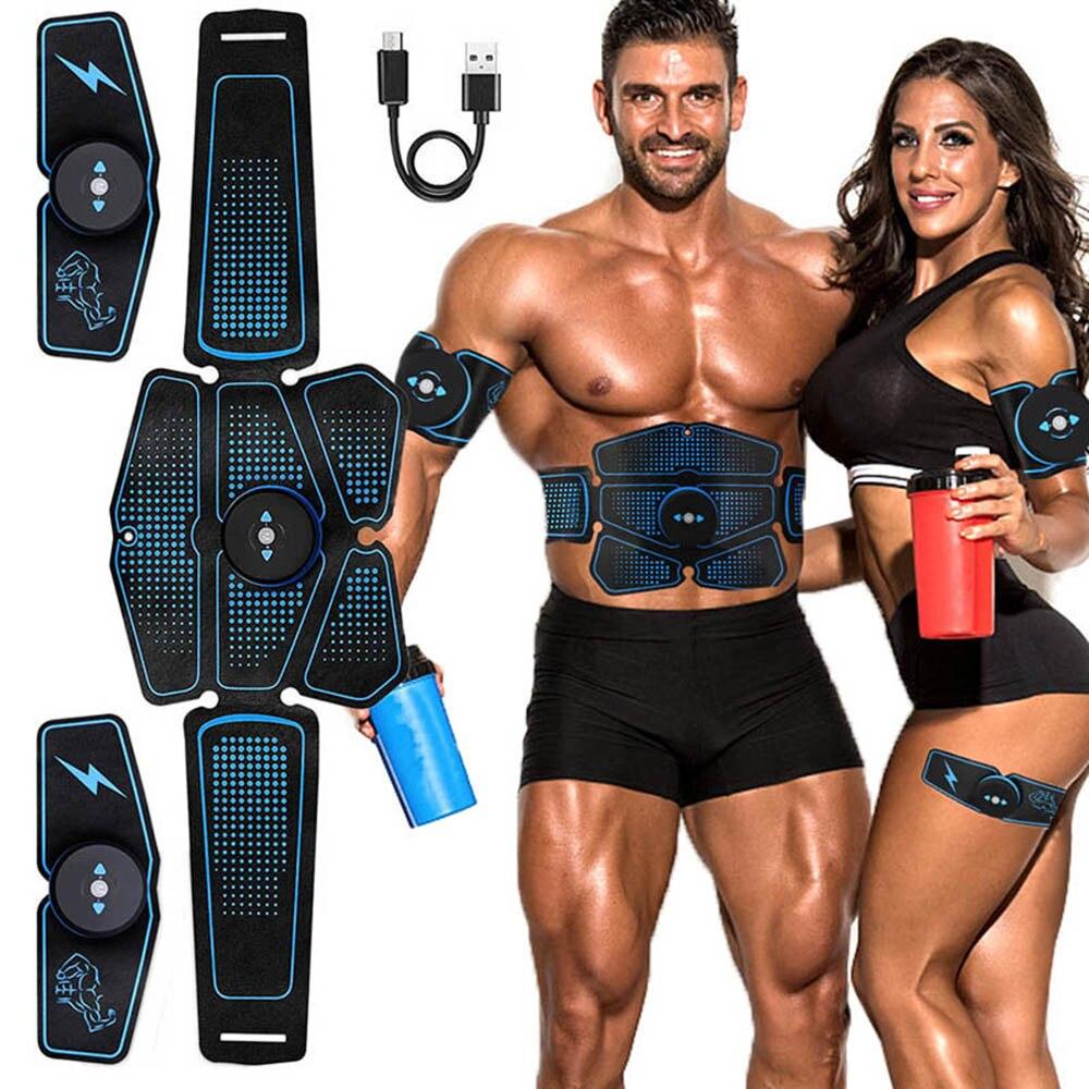 Entrenador de estimulador muscular Abdominal EMS Abs equipo de Fitness entrenamiento músculos electroestimulador tóner ejercicio en el gimnasio del hogar