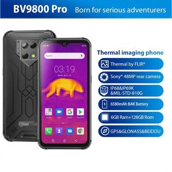 Перейти на Алиэкспресс и купить Смартфон Blackview BV9800 Pro, 6 ГБ + 128 ГБ, мобильный телефон, Helio P70, Android 9,0, водонепроницаемый, 6580 мАч, глобальная версия