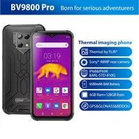 Blackview BV9800 Pro Thermische Beeldvorming Smartphone 6Gb + 128Gb Mobiele Telefoon Helio P70 Android 9.0 Waterdichte 6580Mah global Versie