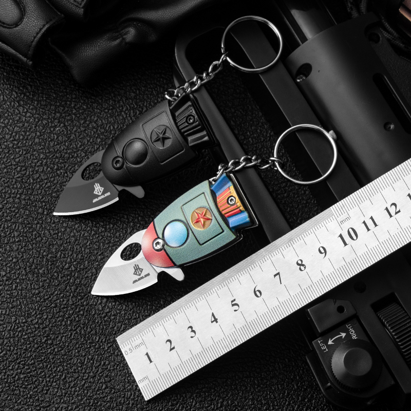 New Arrivals Mini Pocket Rocket Folding Knife <font><b>Keychain</b></font> <font><b>CS</b></font> Go Knives Hunting Military Knives Weapons Survival Tool For Man Women image