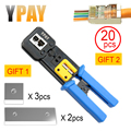 YPAY rj45 cable crimper rg45 network tools pliers rj12 cat5 cat6 8p 6p rj 45 Stripper pressing clamp tongs clip multifunction
