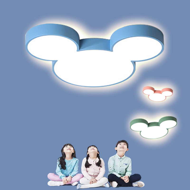DAR coloré Mickey lustres Lustre Luminaria Ultra mince moderne Led Lustre plafonnier luminaires pour chambre d'enfants