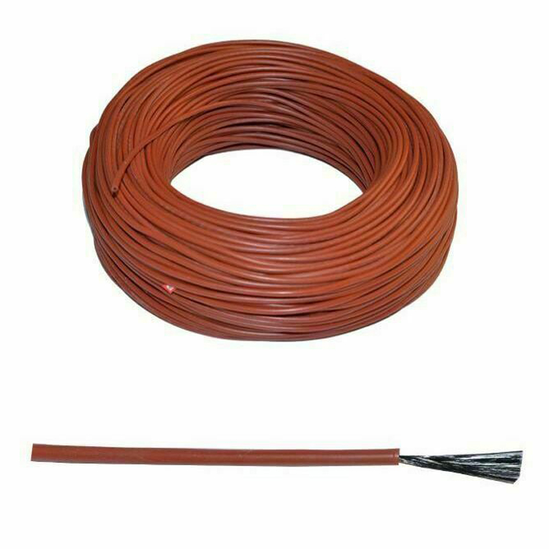 Carbon Fiber Underfloor Heating Cable Wires Silicone Rubber With Far Infrared Function 10M For Floor Heating Parts