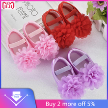 Loss Sale 2018 Toddler Kid Baby Girl Chiffon Flower Elastic Band Newborn Walking Shoes Baby Shoes Toddler Shoes 20(China)