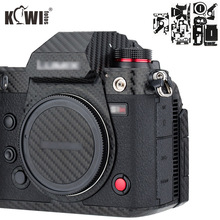 Anti çizik kamera vücut kapak cilt karbon fiber film Sony RX100 VII RX100VII RX100M7 RX100 Mark VII kameralar 3M etiket