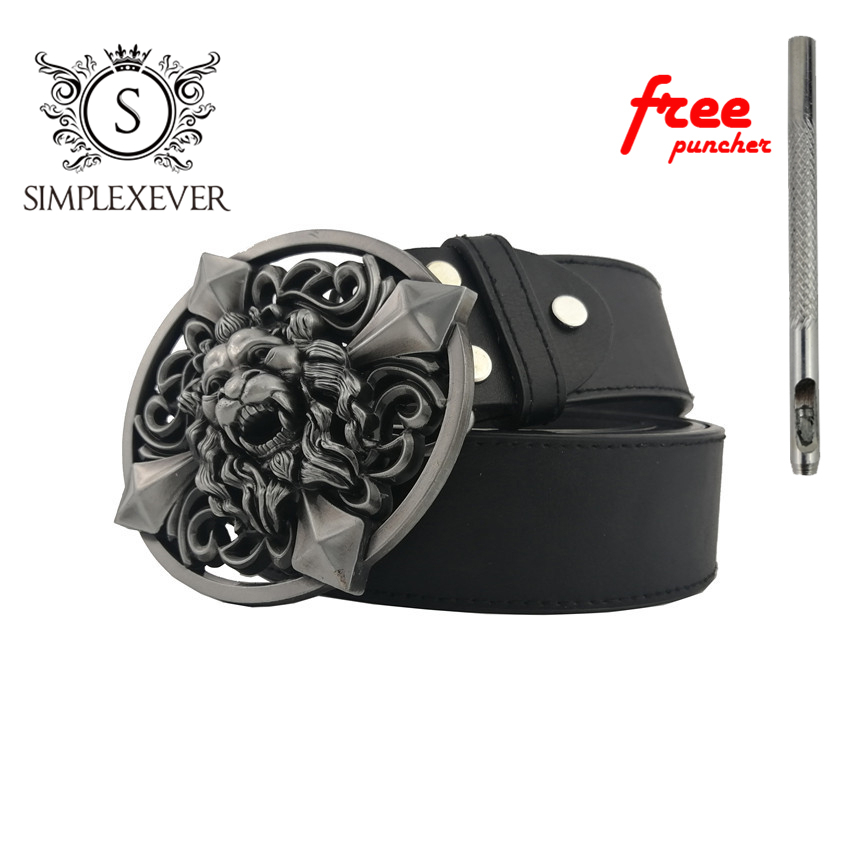 3D Lion Belt Buckle For Men Western Cowboy Belt Buckles With Leather Belt As Jean Accessories Dropshipping Buckles