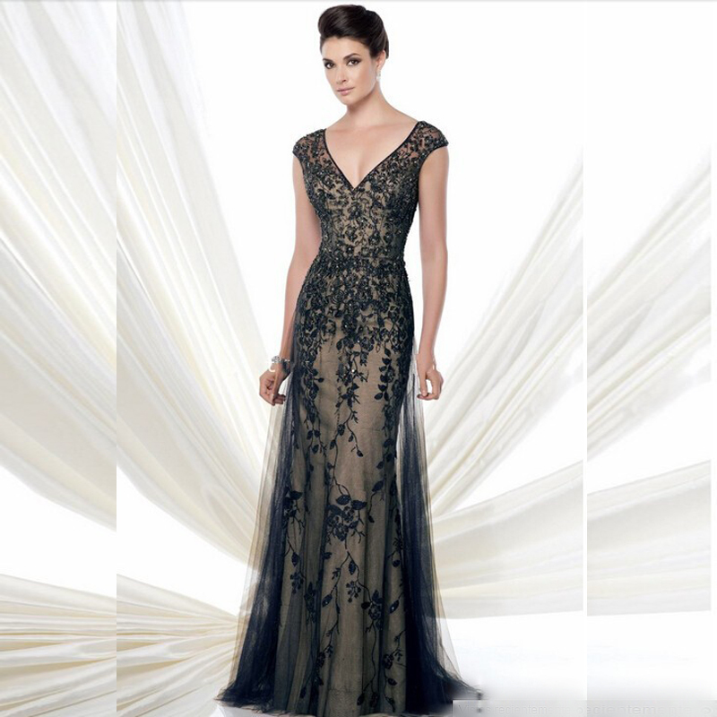 Mother Of The Bride Dress 2020 Elegant Floor-Length Lace Appliques Vestido De Madrinha Mother Of The Bride Lace Dress