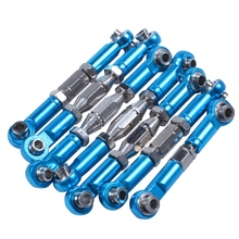 цена на For 144001 1/14 RC Car Spare Parts Metal Servo Pull Rod Steering Tie Rod Set