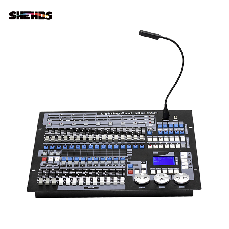 SHEHDS Flight Case With1KingKong DMX Conlose 1024 Multifunction Stage Lighting Controller Dj Disco Professional LED Equipment