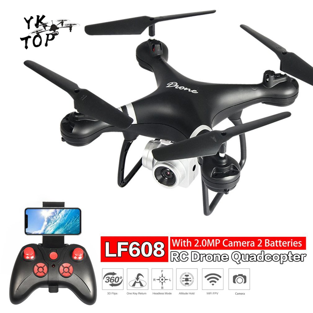 LF608 2 4G wifi FPV RC Drone Foldable Quadcopter With 0 3 2 0 5 0MP Camera drones headless real-time photos videos drone