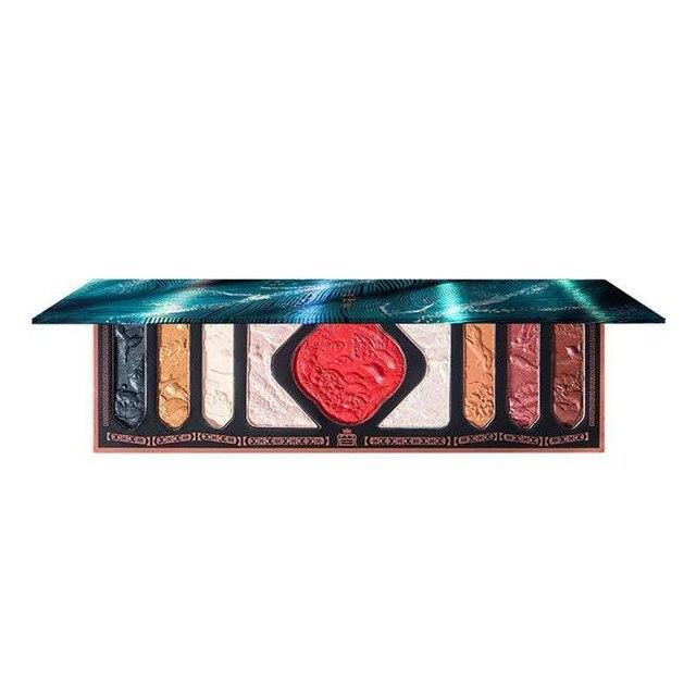 New Chinese Ancient Phoenix Embossed Eyeshadow Palette Palace Luxury Eye shadow Sequins Waterproof Eye Cosmetics Makeup Palettes 6