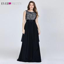 Plus Size Bloemen Kant Bruidsmeisje Jurken Ever Pretty A lijn Ruches Mouwloze O hals Layer Elegant Wedding Partij Jassen 2020
