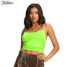 Nibber-tirantes sin mangas para mujer, hombros descubiertos, elásticos, suaves, de color sólido, para fiesta, primavera, 2020, novedad de verano