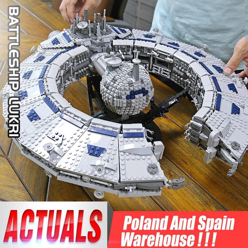MOC Yeshin 21008 Star Set Wars Destroyer Lucrehulk classe cuirassé droïde contrôle navire compatible bloc de construction briques jouet