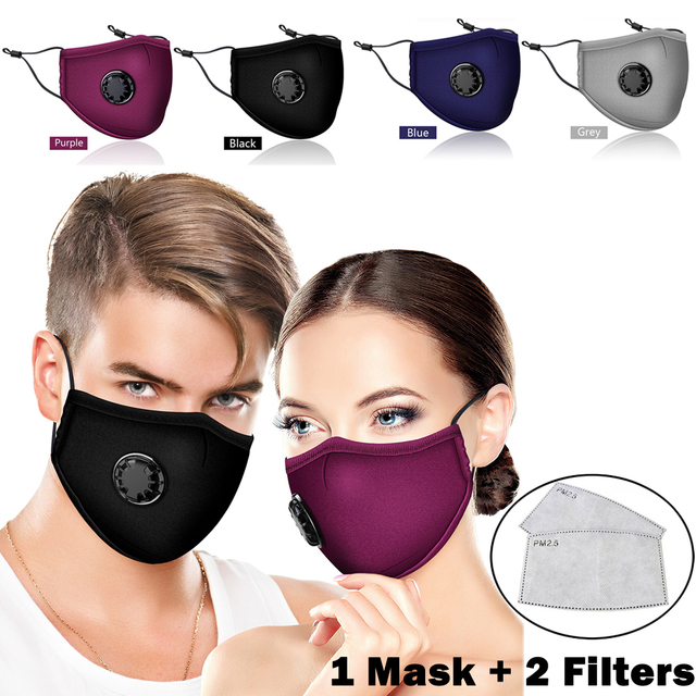 HAPPTYL Anti Pollution Mask Dust Respirator Washable Reusable Masks Cotton Unisex Mouth Muffle for Travel/ Cycling/Running 1