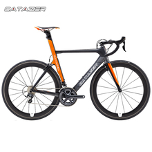 CATAZER 700C Highway Bike Tremendous Gentle T800 Carbon Body Racing Highway Bicycle Carbon Wheelset 22 Pace Skilled Highway Bike
