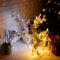 Fio glitter natal elk natal ferro arte lu la che elk arte do ferro ornamentos ouro prata veado