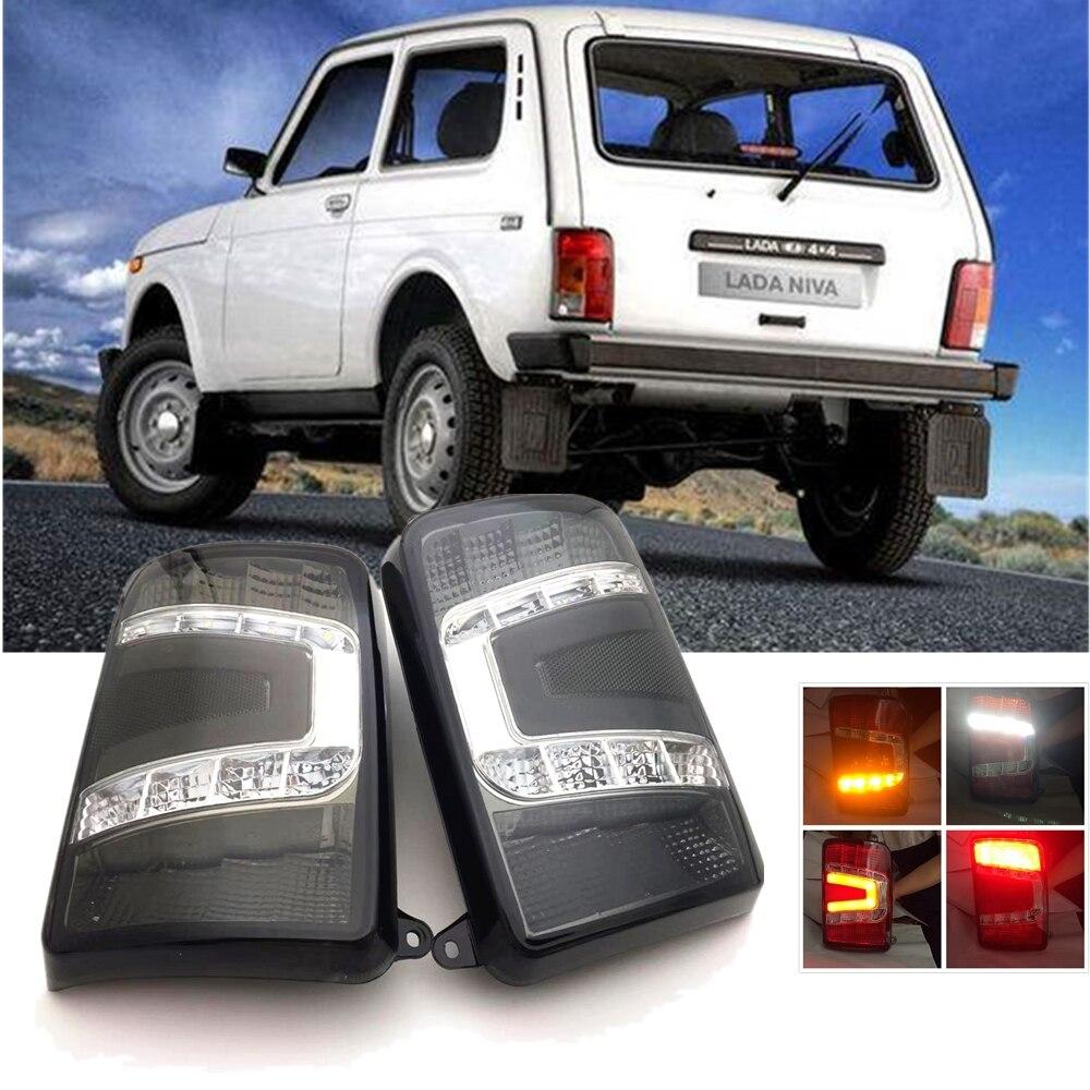 LED de voiture feux arrière pour Lada Niva 4x4 LED feux arrière Stop frein marche arrière clignotant pour Lada 4X4 Niva 1995 + accessoires