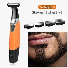 Kemei golarka elektryczna tłokowa golarka do brody wodoodporna elektryczna maszynka do golenia mężczyzn maszynka do golenia 100 240V 40D