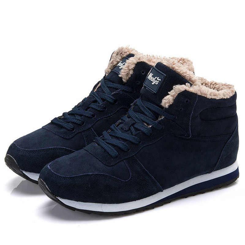 Kadın botları 2019 yeni kış botları sıcak kürk kar botları kadın yarım çizmeler kadın kış ayakkabı kadın Sneakers mavi siyah artı boyutu