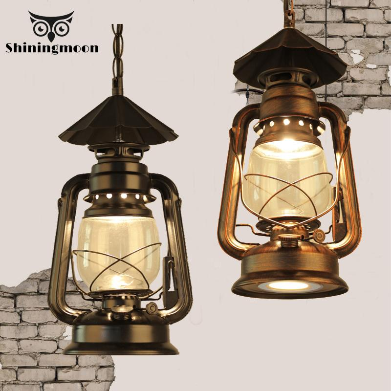 Vintage Home Decor Kitchen Pendant Lights American LOFT Dinning Room Pendant Lamp Industrial Coffee Store Hanging Lamp Fixtures