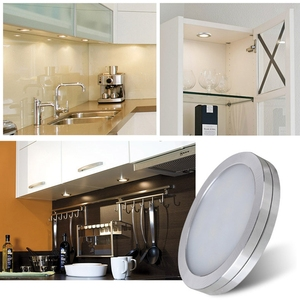 Image 1 - 3/4/6/8 PCS תחת קבינט תאורת שלט רחוק ניתן לעמעום LED אור מטבח תחת דלפק Showcase מלתחת אורות לילה מנורה
