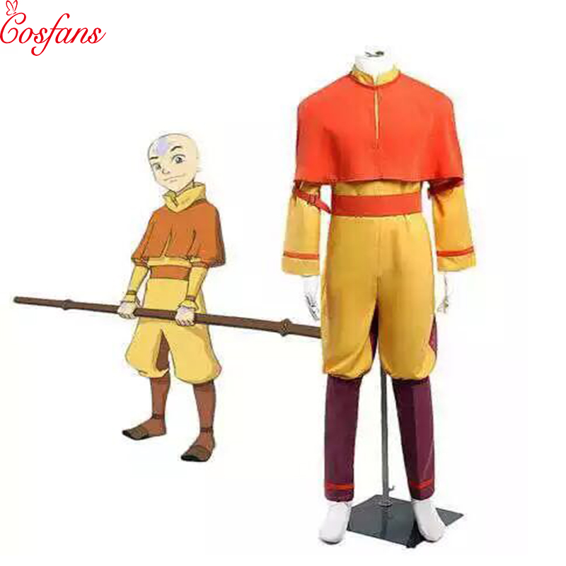 Anime <font><b>Avatar</b></font> The Last Airbender Bumi <font><b>Avatar</b></font> <font><b>Aang</b></font> Cosplay Costume Custom Made Any Size Halloween Cosplay Costume free delivery image