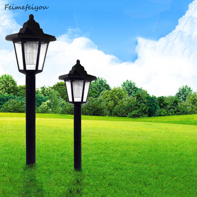 2pcs lot Solar Powered Panel LED Spot Light Landscape Outdoor Garden Path Lawn lamp Street Lights Solar Yard Decoratoin Lights