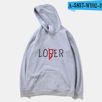 Αθλητική μπλούζα υπερμεγέθη φούτερ loser lover it 4xl με κουκούλα ανδρικό γυναικείο