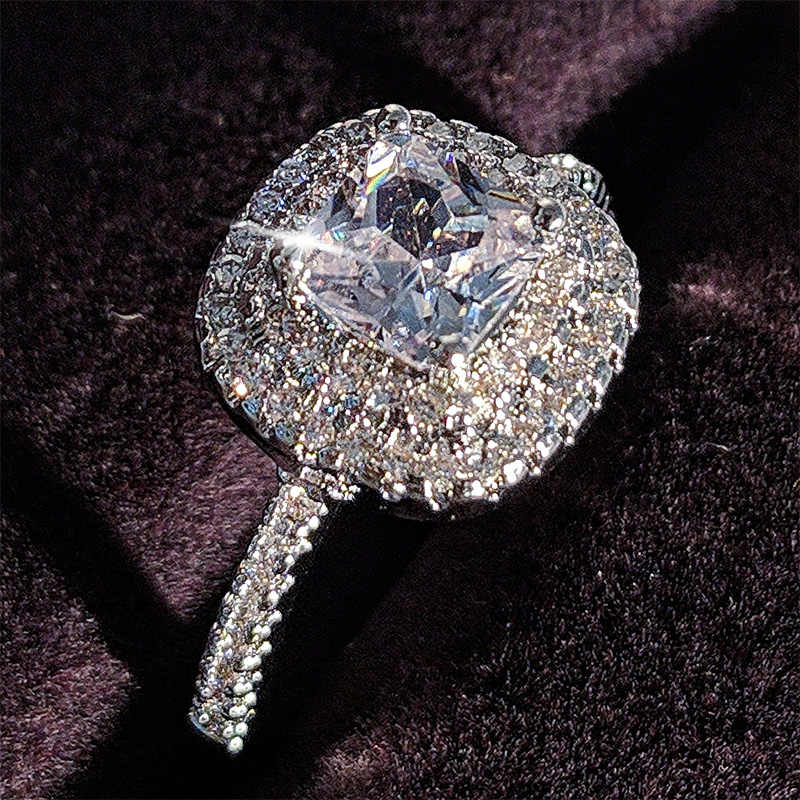 925 sterling silver 2019 new engagement Ring for women finger fashion dropshipping supported wholesale jewelry moonso R5011