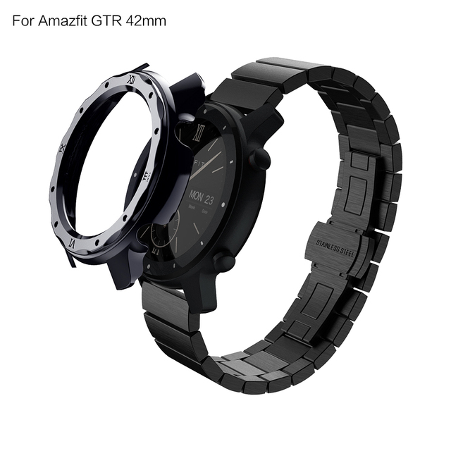 SIKAI Plating Hard PC Protective Watch Case For Amazfit GTR 42mm Replacement Watch Cover Huami Amazfit GTR 42mm Smartwatch Shell