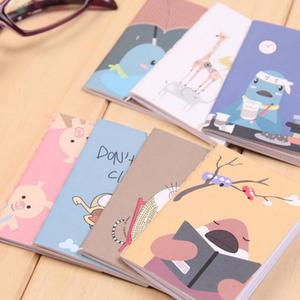 5pcs 8cmx6cm 20pages/sheet Retro Notepad Book Cartoon Image Notebook Vintage For Kids Stationery