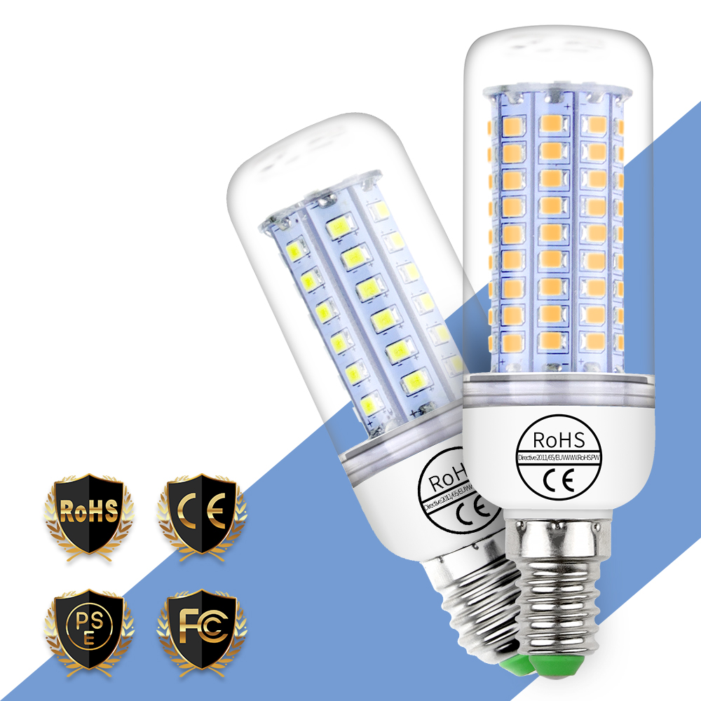 LED Lamp E27 Corn Bulbs E14 Lampare LED 220V Candle Light SMD 2835 Home Light Bulb 3W 5W 7W 9W 12W Bombilla Indoor Lighting 240V