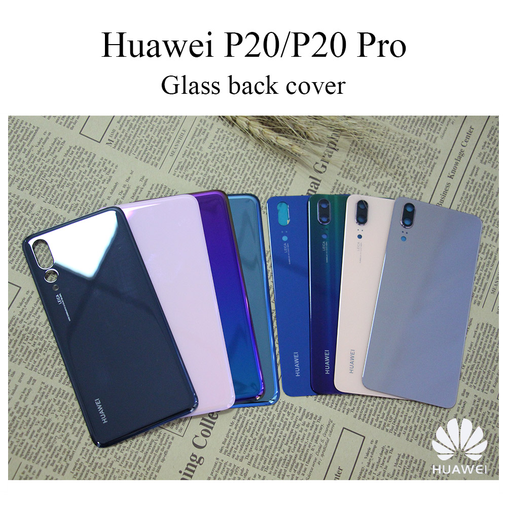 E-family New Glass Rear Housing For <font><b>Huawei</b></font> <font><b>P20</b></font> Pro <font><b>Battery</b></font> <font><b>Cover</b></font> Back Case <font><b>P20</b></font> Replace Part with camera lens image