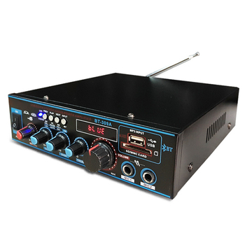 800W 12V 220V HIFI 2CH Car Audio Stereo Power Amplifier Bluetooth FM Radio Home Theater Amplifiers Music Subwoofer Sound System
