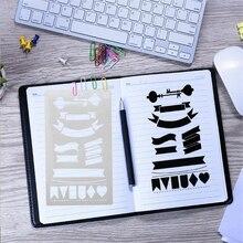 12 шт./партия, A6, креативный шаблон для рисования, набор, сделай сам, ручная работа, украшение, тиснение, бумага, карта, шаблон, Детский рисунок, подарок, 03102