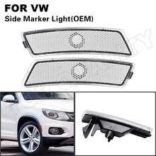 2Pcs For VW Beetle 2012 2013 2014 2015 2016 2017 2018 Tiguan 2018 2019 2020 5C5945071A Clear OEM Side Marker Light Bumper Lamp
