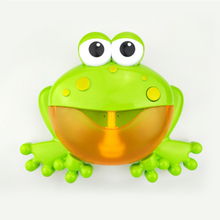 Frog spit bubble machine blowing infant bathtub children bathing baby bathroom bath toys play water with music