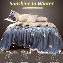 Blanket for Bed Double-layer Thickening All-purpose Cover Fleece Blankets and Throws Plaid Chair Sofa Decoration for All Seasons sewing for all seasons