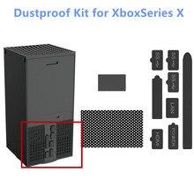 Bouchon de filtre à mailles anti poussière en Silicone pour Xbox série S / Xbox série X, Kit de bouchons de jeu