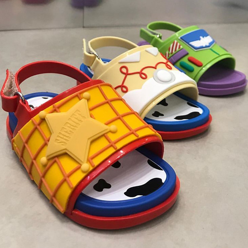 2020 New Kids Cartoon Summer Sandal Mini Melissa Fashion Jelly Shoes For Girl And Boy Childre PVC Candy Shoes Boy Sandal HMI004