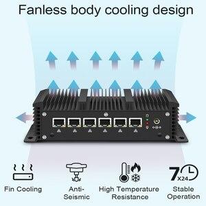 Image 2 - Xcy sans ventilateur Mini Pc Intel Core i3 7100U Celeron 6 LAN 211at Gigabit Ethernet 2 * Usb 3.0 HDMI RS232 pare feu routeur PFsense Minipc
