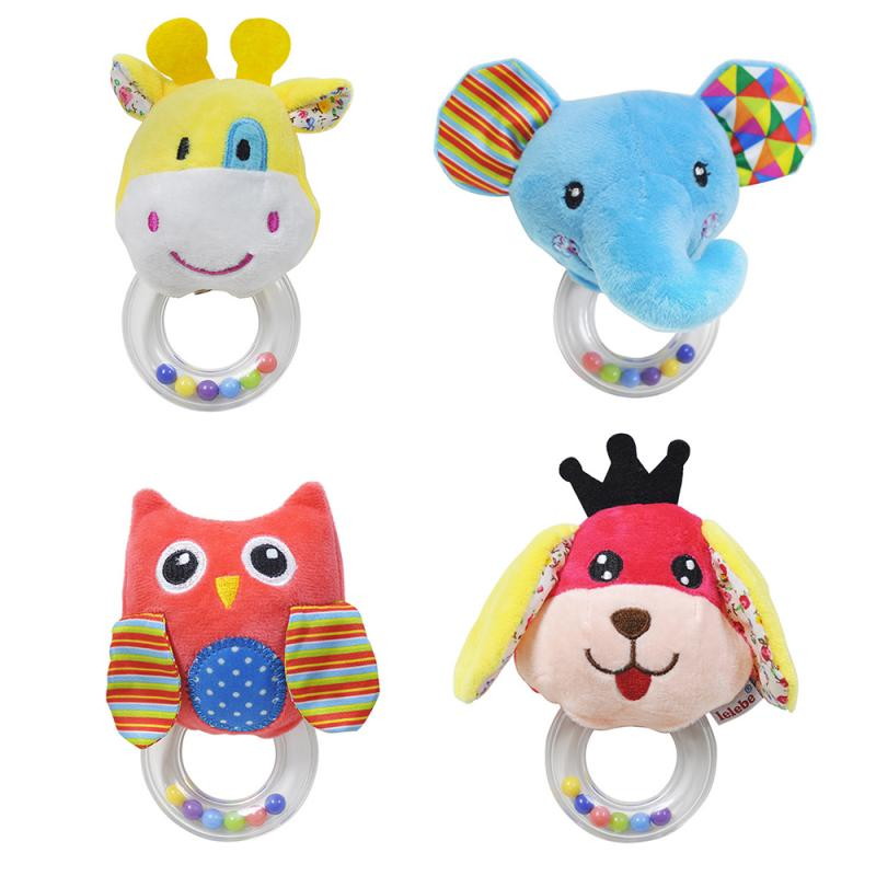 Baby Rattle Cartoon Animal Plush Toy Soft And Delicate 0-3 Years Old Puzzle Baby Rattle Set Toy Education Learning Teething Toy