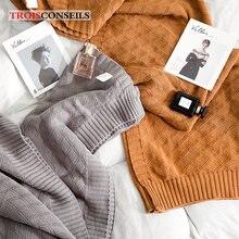 Одеяло для кроватей ручной вязки одеяло дивана хлопковое утяжеленное
