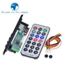 TZT Newest Arrival  Wireless Bluetooth 12V MP3 WMA Decoder Board Audio Module USB TF Radio For Car accessories